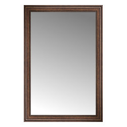 """Posters 2 Prints, LLC - 41"""" x 60"""" Arqadia Bronze Traditional Custom Framed Mirror - 41"""" x 60"""" Custom Framed Mirror made by Posters 2 Prints. Standard glass with unrivaled selection of crafted mirror frames.  Protected with category II safety backing to keep glass fragments together should the mirror be accidentally broken.  Safe arrival guaranteed.  Made in the United States of America"""