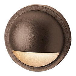 LANDSCAPE - LANDSCAPE Half Moon Outdoor Deck Light X-TZA46051 - A clean, modern design, this Kichler Lighting outdoor deck light features a half-sphere shape with a small almost half-moon opening to direct light downward. The Textured Architectural Bronze finish gives it a traditional, warm feel.