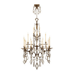 Fine Art Lamps - Encased Clear Crystal Gems Chandelier, 709440-3ST - Chandelier in venerable bronze patina with clear crystal gems. 60 watt B-10 bulb, candelabra base light bulb. UL Listed, phenolic socket. 6' of standard chain, rod or cable included. Bulb(s) not included. We recommend that all Fine Art Lamps are hung by a professional electrician. All fixtures come with specific hanging instructions and descriptions. Contact Houzz for specific questions regarding installation instructions