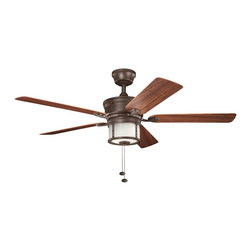 "Kichler Lighting - Kichler Lighting Deckard 52"" Transitional Indoor/Outdoor Ceiling Fan X-PZT501013 - Kichler Lighting Deckard 52"" Transitional Indoor/Outdoor Ceiling Fan X-PZT501013"