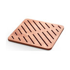 WS Bath Collections - Atlantica Shower Mat in Marine Plywood - Atlantica 7226 Shower Mats, Shower Mats Marine Plywood, Made in Italy