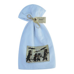 Cats with Umbrellas    Flour Sack Towel Set of 2 - A fabulous set of 3 flour sack towels. This set features an adorable antique print of Cats with Umbrellas.   These towels are printed in the USA by American Workers!