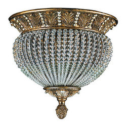 Crystorama Lighting Group - Crystorama Lighting Group 6723 Crystal Two Light Roosevelt Semi Flush Ceiling Fi - Crystorama 6723 Ceiling LightThis Weathered Patina Ceiling Mount is a part of the Fashion Forward Collection. It features crystal beads on a Wrought Iron frame.