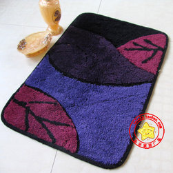 Leaf Luxury non-slip Bathroom Rug - The market offers all kinds of furniture and bathroom accessories, but the bathroom rug enjoys increasing popularity because it not only helps us to not slip on the floor, but also can be a wonderful decoration of the room.