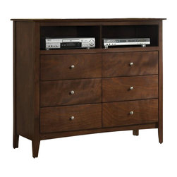 Coaster - Coaster Tamara 6 Drawer Media Chest in Dark Walnut - Coaster - TV Stands - 201156 -
