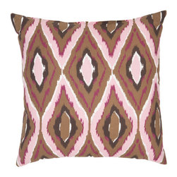 Safavieh Home Furniture - 18-Inch Brownand Pink Decorative Pillows -Set of Two - - This gorgeous 18-inch Ikat Decorative Pillows (Set of 2) features trendy brown backdrop with accents of pink purple and beige pattern printed on beautiful 100% cotton fabric. Seamed with intricate detail this pillow offers the versatility to fit into a wide range of decor styles from modern-contemporary to country or traditional and in settings that are either casual or formal.   - Pink  - Some assembly required - Yes  - Please note this item has a 30-day manufacturer's limited warranty that covers product defects. Inspect your purchase upon delivery and notify us immediately with any concerns. Safavieh Home Furniture - PIL411A-1818-SET2