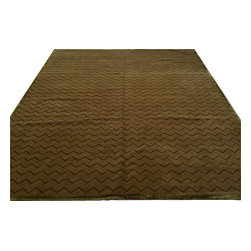 1800-Get-A-Rug - Oriental Rug Taupe Modern Wool and Silk Hand Knotted Rug Sh12220 - About Modern & Contemporary