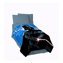 """Jay Franco - Star Wars Twin Fleece Blanket - This twin fleece blanket is a must have for all Star Wars fans! Your child can show off one of the most iconic villains of all time, Darth Vader, on this soft and cozy blanket made of 100% polyester. It measures 62"""" by 90""""."""