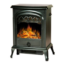 Lofty - Galway Electric Stove Heater with Single Door - Lofty Galway SJ15SFB Small Free Standing Heater Electric Stove with Glass View Window