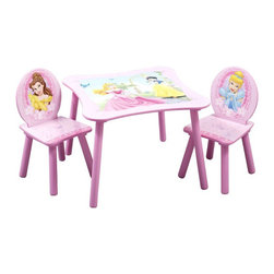 Disney Princess Square Table and Chair Set - I like the versatility of this table and chair set. It can be used for arts and crafts, reading a book or having tea parties. It comes in a nice shade of lavender and includes some of Disney's most popular princesses.