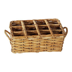 Eco Displayware - 12-Bottle Wine Rattan Basket in Natural - Capacity: 12 bottles. Great for closet, bath, pantry, office or toy and game storage. Earth friendly. 20 in. L x 16 in. W x 8.5 in. H (9.89 lbs.)These natural colored baskets add warmth and charm and keep you organized.