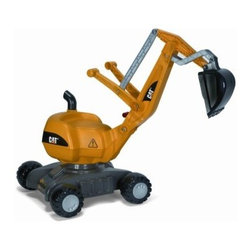 "KETTLER Caterpillar Digger - Put on a hardhat and get ready for a serious sandbox excavation! A miniature version of a real Caterpillar machine the Kettler Caterpillar Digger will unearth your child's imagination. Dual action levers control a large digging shovel that moves sand dirt or snow with ease. The seat and digger arm conveniently rotate 360 degrees and the four tracked wheels trundle easily in any direction for full access to the construction site. Made of high-impact blow-molded resin supported by a sturdy high-carbon steel frame this serious piece of equipment is as hardy as your little worker.About Kettler ProductsThis item is manufactured by Kettler. Throughout the world Kettler is a leading brand in leisure furniture sports and fitness equipment table tennis tables bicycles and children's outdoor toys. Since 1949 the company has grown from a small enterprise in Heinz Kettler's home town of Ense-Parsit in Germany into a world-wide manufacturing and marketing organization.Heinz Kettler has always remained true to the """"Made in Germany"""" quality principle and it is still the central pillar of the company's management philosophy. This means that even after 50 years of trading all over the world most of the factories and particularly the most important ones are still in Germany."