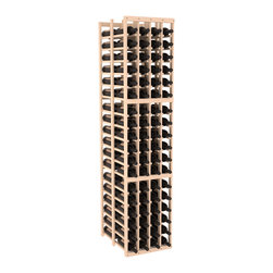 """Wine Racks America - 4 Column Double Deep Cellar in Pine, (Unstained) - Stores 12 cases of wine using less than 18"""" of wall space. The high capacity double deep wine rack is a great starting point and addition to any wine cellar. Engineered for strength and designed for beauty; you'll cherish these racking systems for a long time. These features are guaranteed."""