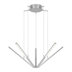 Robert Sonneman Lighting - Robert Sonneman Lighting 2300.16 Starflex Pendants in Bright Satin Aluminum - Starflex LED Pendant