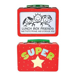"""WL - 4 x 6 Inch Red Lunch Box/Photo Frame with """"SUPER"""" Star Decoration - This gorgeous 4 x 6 Inch Red Lunch Box/Photo Frame with """"SUPER"""" Star Decoration has the finest details and highest quality you will find anywhere! 4 x 6 Inch Red Lunch Box/Photo Frame with """"SUPER"""" Star Decoration is truly remarkable."""