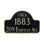Circa Address Plaque - Make your mark in history with the Circa Address Plaque that features an arched design.