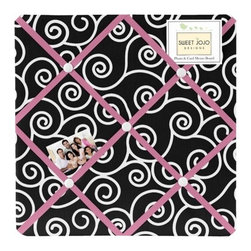 Sweet Jojo Designs - Madison Fabric Memo Board - The Madison Fabric Memo Board with button detail is a great way to display photos, notes, and postcards on your child's wall. Just slip your mementos behind the grosgrain ribbon to create an engaging piece of original wall art. This adorable memo board by Sweet Jojo Designs is the perfect accessory for the matching children's bedding set.