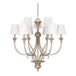 Capital Lighting - Ansley 9 Light Chandelier - Beginning with design concepts from popular home fashions, they transform their ideas into lighting fixtures that blend timeless beauty with today's styling.