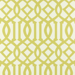 "Imperial Trellis in Citrine | Schumacher - Width - 27"" Horizontal Repeat - 6.75"" Vertical Repeat - 14"""