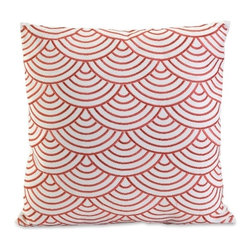 IMAX CORPORATION - Koyna Embroidered Accent Pillow - Coral embroidered pattern inspired by mermaid scales adds versatile style to the Koyna accent pillow. Find home furnishings, decor, and accessories from Posh Urban Furnishings. Beautiful, stylish furniture and decor that will brighten your home instantly. Shop modern, traditional, vintage, and world designs.