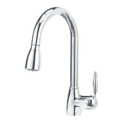 Blanco - Blancho Grace II Pull-Down Kitchen Faucet, Polished Chrome - Solid brass body