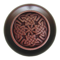 Celtic Isles Wood Knob - Accent your cabinets with embellished wood knobs. Choose from 24 detailed designs set within Walnut, Cherry, Maple or Natural wood finishes. Also available unfinished and ready to custom stain or paint. Great price point!