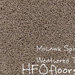 Mohawk Carpet Splurge - Mohawk Splurge, Weathered Taupe 12' Smartstrand Trixeta BCF carpet. Available at HFOfloors.com.