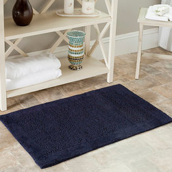 Safavieh - Safavieh Spa 2400 Gram Serenity Navy 21 x 34 Bath Rug (Set of 2) - Turn any bathroom into a spa with an ultra luxurious extra dense bath rug. Bath rug measures 21 inches high x 34 inches wide and this item comes in a set of two.