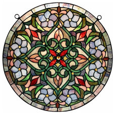 Traditional Stained Glass Panels by Warehouse of Tiffany, Inc