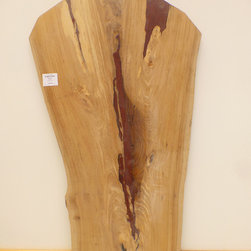 Padauk and English Elm Slab - English Elm Slab with Padauk inlay Semi Finished Tabletop. This can be viewed along with our full inventory of wood slabs on our website: www.BerkshireProducts.com