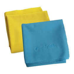 E-Cloth 2 Pack Glass Cleaning & Polishing Cloth - Take advantage of the E-Cloth 2 for 1 special!  Once these are gone  they're gone!Set includes 2 cloths in assorted colors  please allow us to choose a color for you.  Why E-cloth versus common cleaning methods?  It's crystal-clear  streak-free cleaning made easier for you than ever.  Thanks to millions of tiny fibers made possible by highly specialized fabrication  the Glass & Polishing Cloth produces uncommon cleaning results. What makes these results even more impressive is that absolutely no harmful household chemicals are used - just E-cloth and plain water. The cloth's special texturing penetrates and removes light grease and dirt leaving all shiny surfaces (windows  mirrors  stainless steel  etc.) streak-free and sparkling clean  without chemical residue.Product Features                        Money-saving cleaning - no paper towels or household chemicals to buy. Saving just one roll of paper towels a week  and $10 a month on chemical cleaners results in a yearly savings of almost $200. E-cloth performance is guaranteed for 300 machine washings.            Healthier cleaning - no harmful chemicals or fumes because E-cloth uses fiber function to clean - not a chemical reaction. E-cloth cleaning is safe for everyone - especially important to allergy and asthma sufferers.            Eco-friendly cleaning - E-cloth reduces paper towels landfill waste  and pollution that chemicals create.