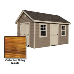 Fifthroom - Deluxe Estate Shed with Cedar Lap Siding -