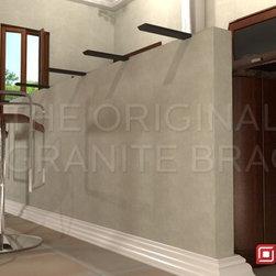 Knee Wall Hidden Granite Bracket - Proctect your granite from being cracked or broken with hidden brackets from The Original Granite Bracket