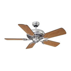 "Savoy House - Savoy House 42-SGC-5RV-SN Pine Harbor 42"" Ceiling Fan in Satin Nickel 42-SGC-5RV - A 42"" ceiling fan for a variety of spaces, Satin Nickel Finish with Reversible Blades.Blade Finish: Chestnut Maple Blade Pitch: 14 Blades Included: Yes Collection: Pine Harbor Downrod Width: 1 2 Finish: Satin Nickel Height: 15-1 3 Number of Blades: 5 Safety Rating: UL, CUL Style: Mission Suggested Room Fit: Bedroom, Living Room, Office Voltage: 120 Weight: 16.2 Width: 42"