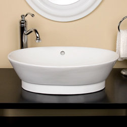 Riona Oval Vessel Sink - The Riona Oval Vessel Sink features a classic oval shape that will complement many different styles of decor. Pair with your favorite vessel faucet to create a custom look.