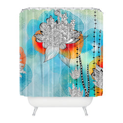 DENY Designs - Iveta Abolina Coral Shower Curtain - Who says bathrooms can't be fun? To get the most bang for your buck, start with an artistic, inventive shower curtain. We've got endless options that will really make your bathroom pop. Heck, your guests may start spending a little extra time in there because of it!