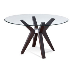 Bassett Mirror - 48 in. Round Dining Table (48 in. Dia.) - Choose table top Size: 48 in. Dia.0.38 in. glass thickness. Eurogee edge and clear top. Small table top: 48 in. Dia.. Large table top: 54 in. Dia.. Base: 30 in. W x 30 in. D x 29 in. H