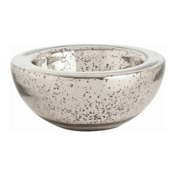 """Arteriors - Arteriors Home - Cyd Small Distressed Mercury Bowl - 2410 - Arteriors Home - Cyd Small Distressed Mercury Bowl - 2410 Features: Cyd Collection BowlAntique FinishGlass MaterialContemporary style Some Assembly Required. Dimensions: 11.5"""" D X 5"""" H"""