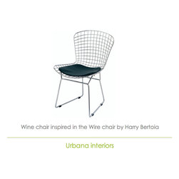 Wire Bertoia Chair reproduction - Chair inspired in Harry Bertoia's Wire chair.