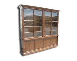EuroLux Home - New Bookcase Solid Oak Wood Consigned Antique Finish - Product Details