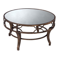 Sterling Furnishings - Sterling Furnishings Unique D�cor Items Table in Unfinished Item - Shown in picture: Treviso Coffee Table. Antiqued gold washed metal makes this coffee table sturdy and chic. Partner the iron with overstuffed upholstery to give any room an eclectic look. Mirrored top.