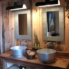 Rustic Bathroom by Help Me With This Project