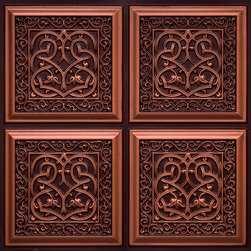 """Decorative Ceiling Tiles - Lover's Knot - Faux Tin Ceiling Tile - Glue up - 24""""x24"""" - #231 - Find copper, tin, aluminum and more styles of real metal ceiling tiles at affordable prices . We carry a huge selection and are always adding new style to our inventory."""