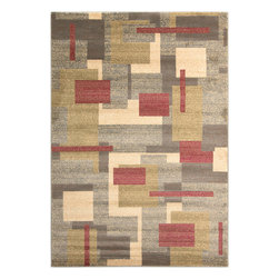 "Surya - Riley Rug RLY-5053 - 2' x 3'3"" - Both a bold zig-zag pattern and traditional organic pattern define the rugs in the Riley collection from Surya. While the zig zag pattern is a modern take on the traditional southwest style, the floral pattern of classic style is given a fresh perspective, combining it with geometric sections of different background colors. The Neural browns, tans and grays are delightfully balanced with a pop of cinnamon spice for added interest. Each rug is machine made in Turkey from 1% polypropylene."