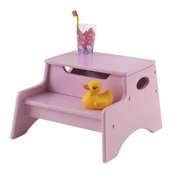KidKraft - Step 'N Store - Pink by Kidkraft - Our Step 'N Store brings kids one step closer to both independence and hard-to-reach objects. Small enough that it can be kept in any room without taking up too much space, the Step 'N Store is a perfect gift for kids who like to be brave and do as much on their own as possible.