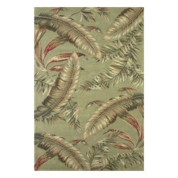 """Kas - Country & Floral Sparta Hallway Runner 2'6""""x10' Runner Sage Area Rug - The Sparta area rug Collection offers an affordable assortment of Country & Floral stylings. Sparta features a blend of natural Teal color. Hand Tufted of 100% Wool the Sparta Collection is an intriguing compliment to any decor."""