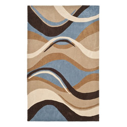 Safavieh Modern Art MDA617A Blue - Brown Area Rug - Safavieh Modern Art MDA617A Blue - Brown Area Rug