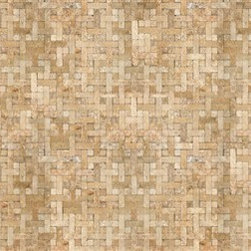 Textured paintable wallpaper tile find bathroom tiles for Crossing the shallows tile mural