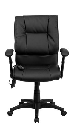 Flash Furniture - Flash Furniture Office Chairs Massaging Offfice Chairs X-GG-P0772-TB - Enjoy a relaxing massage in the comfort of your own office or home with this incredibly comfortable Massaging Executive Office Chair by Flash Furniture. The included remote has a variable slider intensity mode to get to your desired comfort level and has a designated side pocket when not in use. Chair features a mid-back contemporary design with soft leather upholstery and double padded seat and back. Get the most out of your next office chair with this Overstuffed Padded Executive Chair with included Massage feature. [BT-2770P-GG]