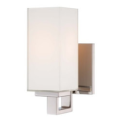Kovacs - Kovacs P1702-613 1 Light Wall Sconce - Kovacs P1702-613 Single Light Wall SconceRight angles pervade the modern design of this stylish bathroom wall sconce. Featuring stylish Polished Nickel hardware with cube shaped Mitered glass that's white on the inside, this beautiful and versatile fixture can be mounting pointing either up or down.Kovacs P1702-613 Features: